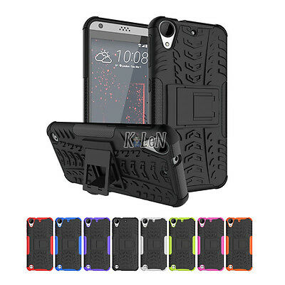 Dual Layer Hybrid Defender Armor Shockproof Stand Case For HTC Desire 530 630