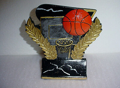 Basketball And Wreath Trophy Award Sports Sculpture Statue Figurine