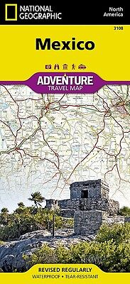 Mexico Adventure Travel Map National Geographic Waterproof