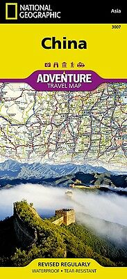 China Adventure Travel Map National Geographic Waterproof