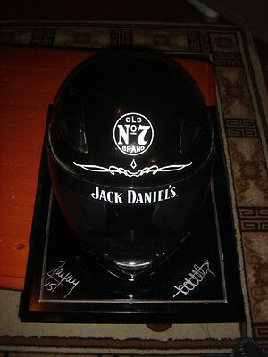 Jack Daniels Racing V8 Supercars Helmet signed by Todd and Rick Kelly