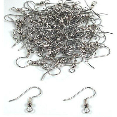B3 100-Piece Earring Hooks Hypo-Allergenic,Sliver