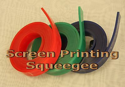 """Screen Printing Squeegee Single 50mm x 9mm x12'(144"""")/Roll 80 Duro (Blue Color)"""