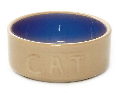 "Mason Cash Quality Cat Kitten Ceramic 5"" Pet Bowl Dish Feeder Strong Safe"