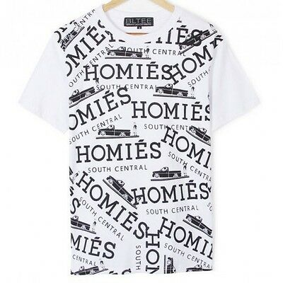 df921782c88 BLTEE Brian Lichtenberg HOMIES black and white Printed all over GRAFFITI  XS