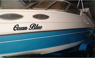 2 Color Boat Name Stickers 6x30 (2) Custom Boat Name Decal Sticker Set of 2