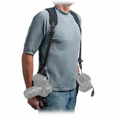 OP/TECH USA Double Sling, Neoprene Harness - Carries 2 Cameras In Sling Style