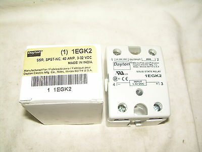 DAYTON 1EGK2  SOLID STATE RELAY  40amp  NEW IN BOX