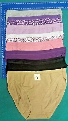 6 or 12 Fine Cotton Stretch Women's Underwear High Cut Size 8-,20 it-se-bit-se