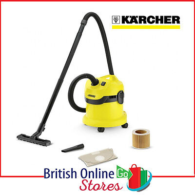 Karcher WD2 Powerful Tough Vac Compact Wet & Dry Multi-Purpose Vaccum Cleaner