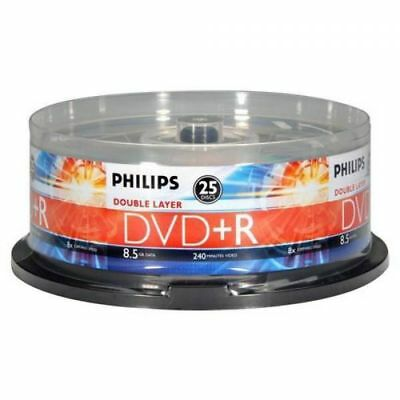 Philips Double Layer DVD+Rs - 8.5GB (240min.) - 8X - 25pk