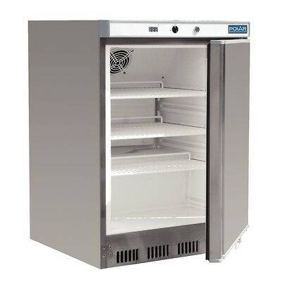 Polar CD080-A Undercounter Commercial Fridge 150Lt S/Steel Underbench Cafe Bar
