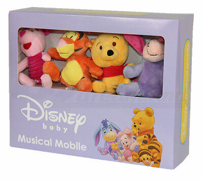 Winnie The Pooh Disney Baby Wind Up Crib Musical Cot Mobile 0 M+