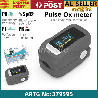 Fingertip Blood Oxygen Meter OLED Pulse Heart Rate SpO2 Monitor Oximeter