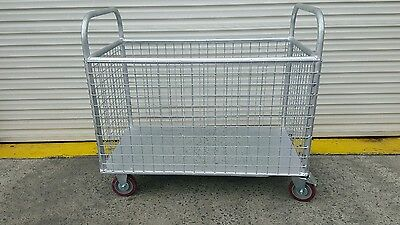 Caged Trolley lockable wheels