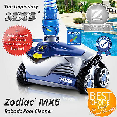 Genuine New Zodiac Pool Cleaner Mx6 Automated Suction Robotic Robot (Wc215)