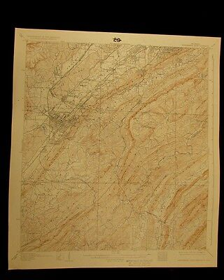 Bessemer Iron District Alabama 1932 vintage USGS Topo color chart map