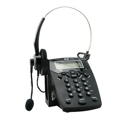Business Call Center Dialpad Headset Telephone with Tone Dial Key Pad & REDIAL