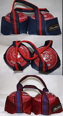 Henselite 2 Bowl Sling Lawn Bowls Carrier Bowling Bag Maroon or Navy