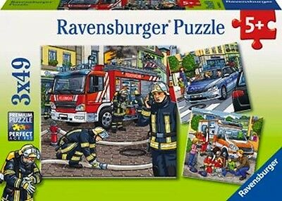 Ravensburger - Helpers in Need Puzzle 3x49pc NEW Jigsaw