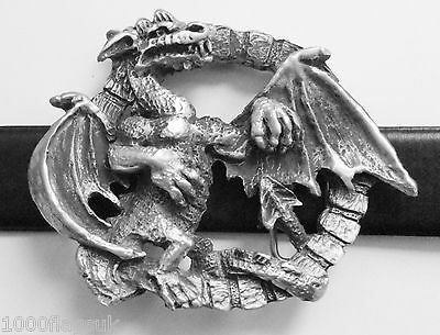Infernus The Dragon Gate Belt Buckle - Hand Made in Pewter