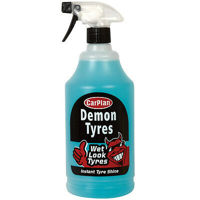 CarPlan Demon Tyres Wet Look Tyres Instant Tire Shine Dressing Spary 1 Litre