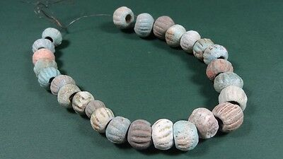 Group Of 26 Ancient Faience Beads Egyptian - Roman 100 Bc-200 Ad