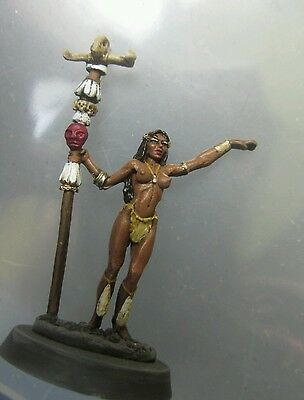 1x Amazon sorceress priestess female reaper miniatures painted
