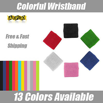 A Pair Cotton Wristbands Wrist Band Bands Sweatbands Sweat Band for Sport Tennis
