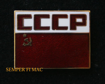 Soviet Union Flag Cccp Red Flag Hat Lapel Pin Up Russia Ussr Republic Lenin Gift