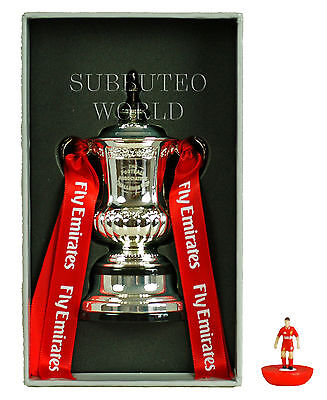 FA CUP TROPHY. OFFICIAL LICENSED PRODUCT. SUBBUTEO TABLE SOCCER. 100mm HIGH.