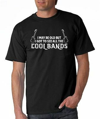 Wholesale Lot Of 12  I May Be Old But I Got To See All The Cool Bands T Shirt