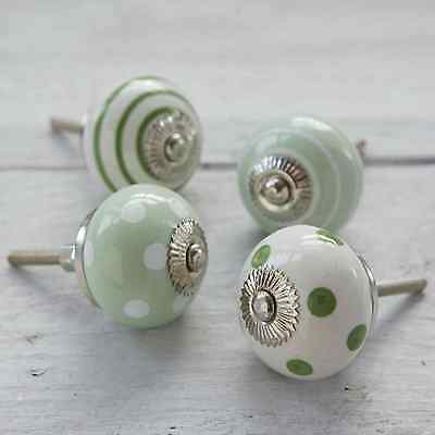Large Selection Of Green Ceramic Door Knobs Handle Cabinet Cupboard Drawer Pull