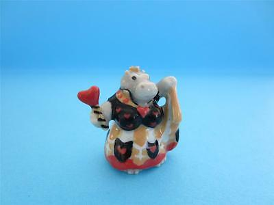 """New Little Critterz Fairy Tales Alice's """"queen Of Hearts"""" Figurine Hippo"""