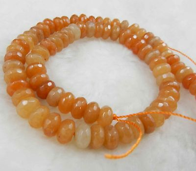 """5x8mm Natural Faceted Topaz Abacus Gems Loose Beads 15"""""""