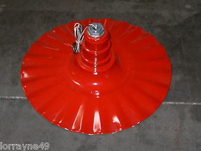 "Radial Wave 20"" Industrial Lighting Fixture RED 120V"