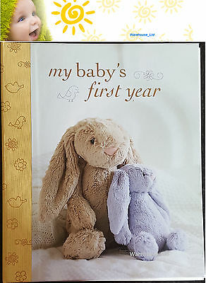 My Baby's First Year Journal Keepsake Book, Hard Back with Dividers Baby Gift