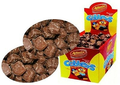 320 x Allens Cobbers Chocolate Caramel Lollies Bulk Party Favours Sweets Candy