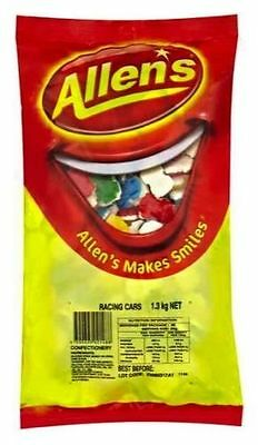 ALLENS RACING CARS 1.3 kg LOLLIES BULK PARTY FAVOR SWEETS CANDY BUFFET LOLLY BAG