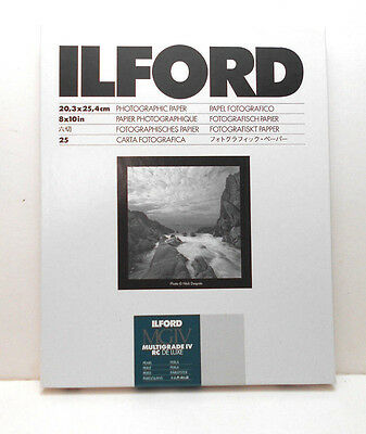 Ilford Multigrade IV RC Deluxe 8x10 Photographic Paper 25 Sheet (Glossy Finish)