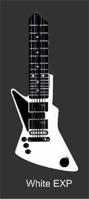 WHITE EXPLODING ELECTRIC GUITAR House Key Blank Schlage SC