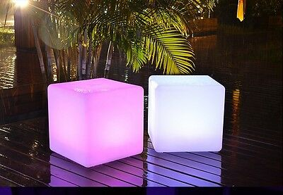 Led Cube  Light Bar Stool Color Changeable Cube Chair party home garden decor