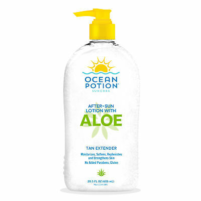 2 Pack Ocean Potion Skincare After Sun Moisturizing Aloe Lotion 20.5 fl oz Each