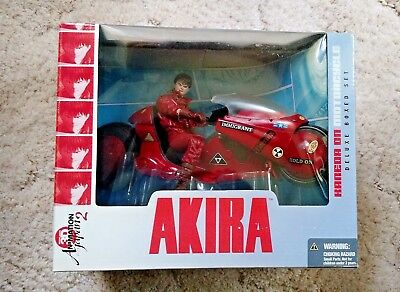 2001 McFarlane Akira Kaneda Motorcycle Deluxe Boxed Set Not Mint But Excellent !