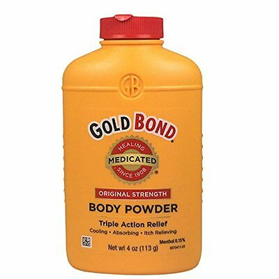 5 Pack - Gold Bond Body Powder, Medicated, Original Strength, 4 oz Each