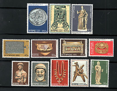 (Ref-7940) Cyprus 1976 Cypriot Treasures  SG.459/470 Set of 12   Mint (MNH)