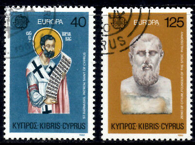 (Ref-7955) Cyprus 1980  Europs  SG.540/541  Used Set