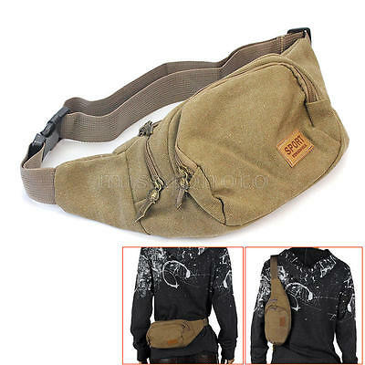Bum Bag Fanny Pack Travel Waist Festival Money Belt Canvas Pouch Holiday Wallet