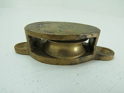 1+3/8 Inch Bronze Deck Pulley Block Boat Ship Brass Tackle (#171)