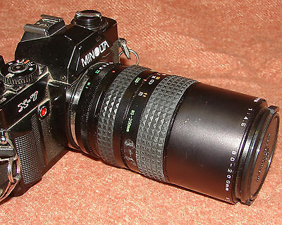 Minolta X-7 35mm Camera With all The Accessories